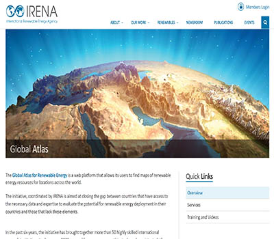 IRENA Global Atlas for Renewable Energy